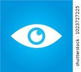 eye icon. flat design style. | Shutterstock .eps vector #1023727225