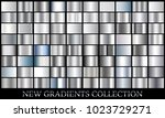 silver gradient set background... | Shutterstock .eps vector #1023729271
