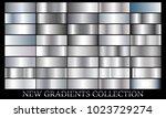 silver gradient set background... | Shutterstock .eps vector #1023729274
