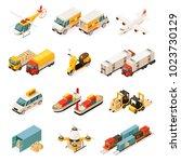 isometric transportation... | Shutterstock .eps vector #1023730129