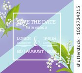 Save The Date Card With Spring...