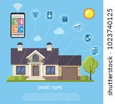 smart home and internet of... | Shutterstock .eps vector #1023740125