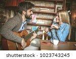 it is so romantic when your... | Shutterstock . vector #1023743245