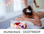beautiful woman in spa salon | Shutterstock . vector #1023746029