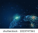 abstract background of global... | Shutterstock .eps vector #1023747361