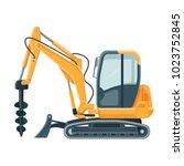 modern powerful drilling... | Shutterstock .eps vector #1023752845