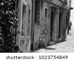 corfu  greece    old city corfu.... | Shutterstock . vector #1023754849