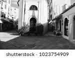 corfu  greece    old city corfu.... | Shutterstock . vector #1023754909