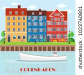 copenhagen denmark  nordic... | Shutterstock .eps vector #1023760801