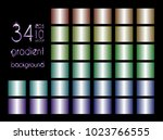 set of 34 blue  red  yellow ... | Shutterstock .eps vector #1023766555