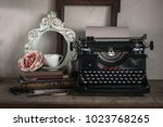 details of still life in the... | Shutterstock . vector #1023768265