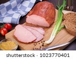 meat and sausages set of fresh... | Shutterstock . vector #1023770401