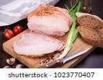 meat and sausages set of fresh... | Shutterstock . vector #1023770407