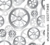 abstract mechanical background  ... | Shutterstock .eps vector #1023773485