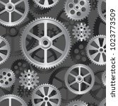 abstract mechanical background  ... | Shutterstock .eps vector #1023773509