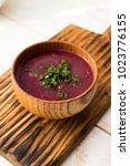 raw vegan borscht   traditional ...   Shutterstock . vector #1023776155