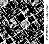 grunge halftone black and white ... | Shutterstock .eps vector #1023779524
