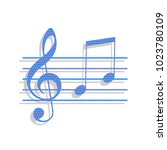 music violin clef sign. g clef... | Shutterstock .eps vector #1023780109