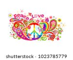 colorful t shirt design with... | Shutterstock .eps vector #1023785779
