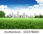 urban city skyline in the...   Shutterstock . vector #102378604