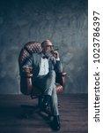 full length portrait of brutal...   Shutterstock . vector #1023786397