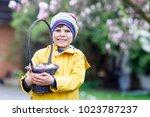 cute adorable little kid boy...   Shutterstock . vector #1023787237
