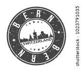 bern switzerland round stamp... | Shutterstock .eps vector #1023791035
