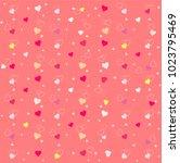 happy valentine's day. pattern... | Shutterstock .eps vector #1023795469