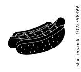 hot dog sandwich icon   Shutterstock .eps vector #1023798499