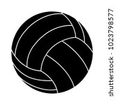 volley ball icon | Shutterstock .eps vector #1023798577