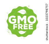gmo free vector sign | Shutterstock .eps vector #1023798757