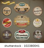 retro styled old papers label... | Shutterstock .eps vector #102380041