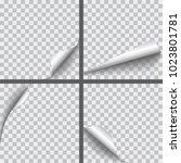 set of vector realistic paper... | Shutterstock .eps vector #1023801781