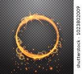 shining circle light effect... | Shutterstock .eps vector #1023802009