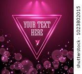 shining pink neon light... | Shutterstock .eps vector #1023802015