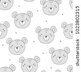 cute seamless pattern with... | Shutterstock .eps vector #1023802315