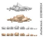 set of different stones  vector ...   Shutterstock .eps vector #1023803014