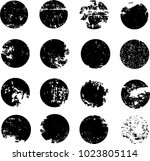 collection of grunge circle... | Shutterstock .eps vector #1023805114