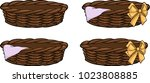 different types of baskets | Shutterstock .eps vector #1023808885