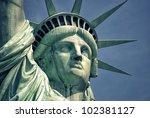 america statue of liberty... | Shutterstock . vector #102381127