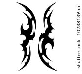 tattoo tribal vector design. | Shutterstock .eps vector #1023813955