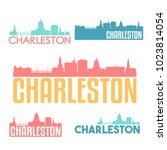 charleston south carolina flat... | Shutterstock .eps vector #1023814054