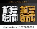 vector set with two seamless...   Shutterstock .eps vector #1023820831