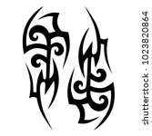 tattoo tribal vector design.... | Shutterstock .eps vector #1023820864