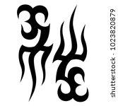 tattoo tribal vector design.... | Shutterstock .eps vector #1023820879