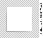 realistic white sticker   Shutterstock .eps vector #1023821674