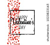 valentines day card with red... | Shutterstock .eps vector #1023823165
