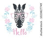 zebra portrait . vector...   Shutterstock .eps vector #1023827749