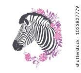 zebra portrait . vector...   Shutterstock .eps vector #1023827779