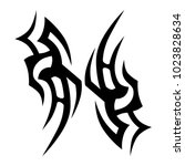 tribal pattern tattoo vector... | Shutterstock .eps vector #1023828634